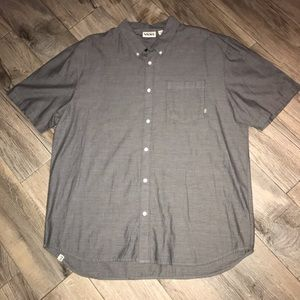 Vans off the wall Button Down XXL Grey Shirt NWT